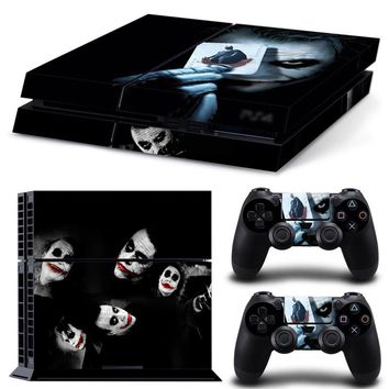 For Dark Knight Joker PS4 Skin Sticker Cover For Sony PlayStation 4 Console And 2 Controller Skins Protective Decal