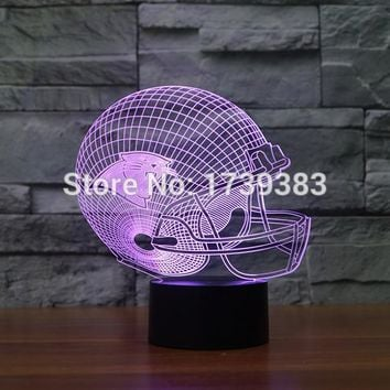 Carolina Panther 3D LED Night Light NFL American Football Club Lamp USB Lighting Table Decor Bedside Nightlight by Touch control