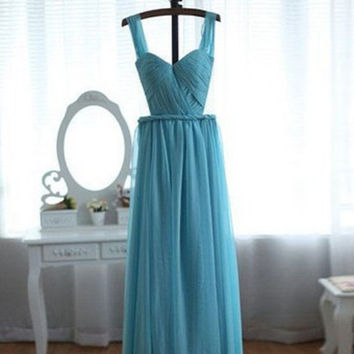Simple Prom Dresses,A-Line Prom Dresses,Long Evening Dress