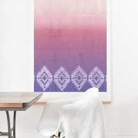 Dash and Ash ombre heart love Art Print And Hanger