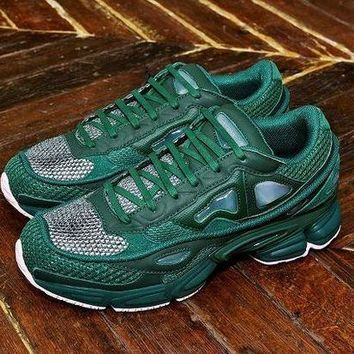 VONEW8L Raf Simons x Adidas Consortium Ozweego 2 Pink Green Women Men Casual Trending Running Sneakers