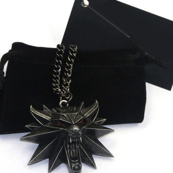 Wolf Head Alloy Necklace
