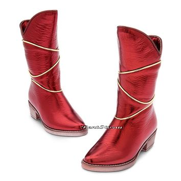 Licensed cool FAWN FAIRY Red Costume Girls BOOTS Shoes TINKER BELL NEVERBEAST DISNEY STORE
