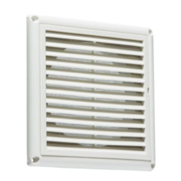 "KB EX0010W 150MM/6"" EXTRACTOR FAN GRILLE WITH FLY SCREEN - WHITE"