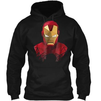 Marvel Iron Man Geometric Prism Shape Art Graphic  Pullover Hoodie 8 oz