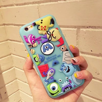 New Hot Cartoon Toy Story Mickey Donald Duck 3D Soft Silicone Cases for iPhone 7 6 6S Plus+ 4.7' 5.5'' Back Cover Fundas Capa