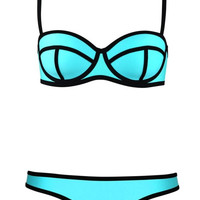 Ribbon Textured Bikini