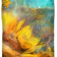 Celestial Sunflowers Queen Duvet Cover for Sale by Carol Cavalaris