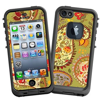 Organic Floral Sage Paisley Skin  for the iPhone 5 Lifeproof Case by skinzy.com