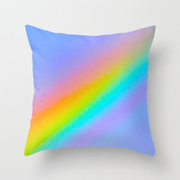 rainbow Throw Pillow by Marianna Tankelevich