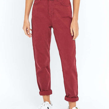 BDG Oxblood Red Mom Jeans - Urban Outfitters