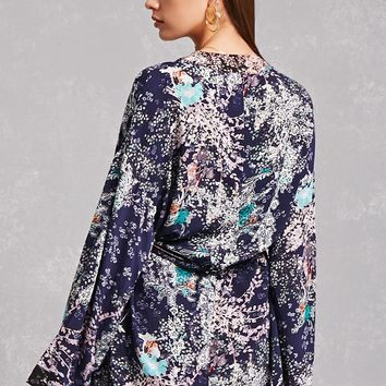 Belted Floral Kimono