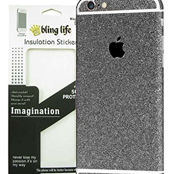 "Bling Life Luxury Glitter Sparkle Diamond Crystal Screen Protector Decal Sticker Full Body Film Cover for iPhone (iPhone 6/6s 4.7"" Black)"