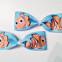 Finding Nemo Ribbon Bows (set of two)