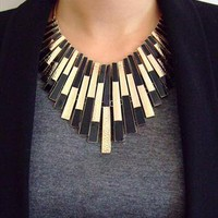 Gold with Black colour Collar / Necklace from PAISIE