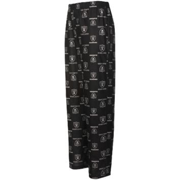 Oakland Raiders Youth All Over Print Lounge Pants - Black - http://www.shareasale.com/m-pr.cfm?merchantID=7124&userID=1042934&productID=525379340 / Oakland Raiders