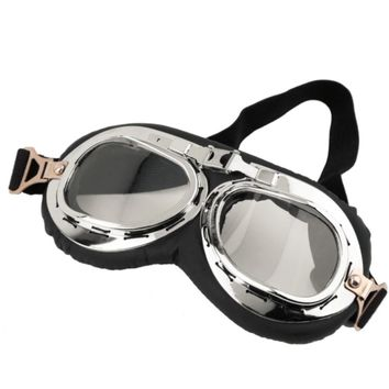 Steampunk Scooter Goggles with Clear Lens