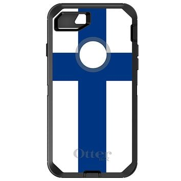 DistinctInk™ OtterBox Defender Series Case for Apple iPhone or Samsung Galaxy - Finland Flag
