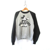 Vintage 80s black and gray Mickey Mouse Sweatshirt / size M