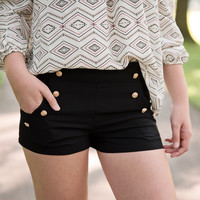 Black Highwaister Shorts