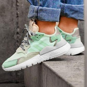 Adidas 2019 Nite Jogger Boost Retro Running Shoes Mint green