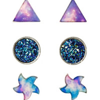 LOVEsick Galaxy Earrings 3 Pair