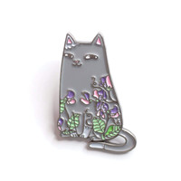 Spike & Sweet Peas Enamel Pin
