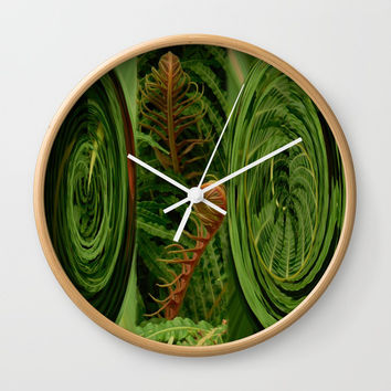 fern Wall Clock by Karl-Heinz Lüpke