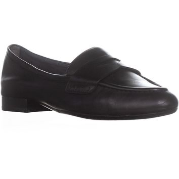 Aerosoles Map Out Slip On Loafers , Black Leather, 8.5 US