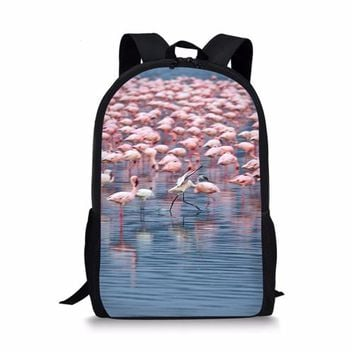 Cool Backpack school Flamingo Schoolbag Printed 3D Backpack For Teenage Boys Girls Children Casual Laptop Cool Schoolbag Mochila Escolar AT_52_3