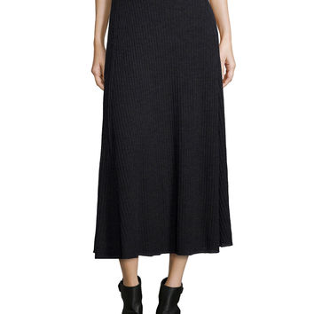 Fisher Project Merino Pleated Long Skirt, Size:
