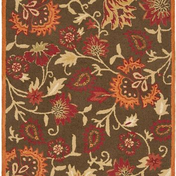 Blossom Country & Floral Indoor Area Rug Brown / Multi