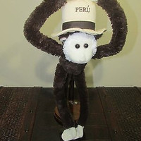 AURORA MONKEY PERU PLUSH STUFFED ANIMAL  Boys & Girls, Recommended Age Range 2