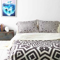 Lisa Argyropoulos For DENY Helena Duvet Cover- Grey & White