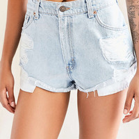 Urban Renewal Recycled Destroyed Roll Hem Short - Urban Outfitters