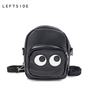 LEFTSIDE 2017 new  Back pack bags mini backpacks women PU leather school bag women's backpack with pockets purses  for girls
