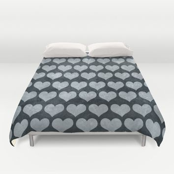 Rustic Hearts  Duvet Cover by Xiari