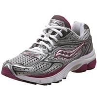 Saucony Women`s ProGrid Echelon 2 Running Shoe,Silver/Purple ,10.5 M US