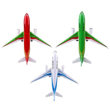 Electric Air Bus Mode Kids Airliner Passenger Flashing LED Light Airplane Toy Planes for Children Birthday Gift