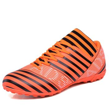 Sufei New Football Boots Superfly Soccer Shoes FG Turf High Ankle Spike FG Outdoor Lawn Sock Cleats Professional Trainer