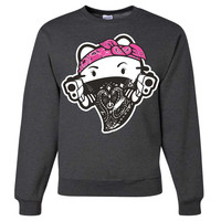Hello-Kitty-Gangster-Thug Crewneck Sweatshirt