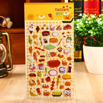 1PC Universal Cartoon 3D Phone Bubble Sticker DIY Diary Scrapbook Notebook Ablum Cup Phone Decoration Stationery School Supplies