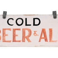 Cold Beer & Ale Sign