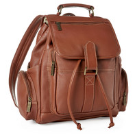 Exclusive Leather Backpack, Cognac, Backpacks