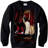 LeBron James throne bosh wade spike lee jordan sweater sweatshirt nba miami heat bulls men retro xmas small-2xl