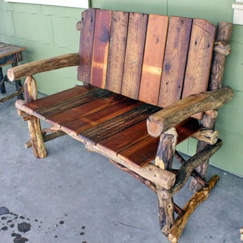 Bench, Made to Order, Reclaimed Wood Bench, Rustic Wood Bench, Salvaged lumber settee, Barnwood Bench, Wedding Bench, Rustic Wedding, Woodzy