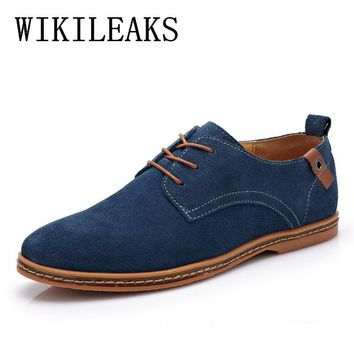 oxford shoes for men chaussure homme de marque heren schoenen genuine leather suede formal shoes mens pointed toe dress shoes
