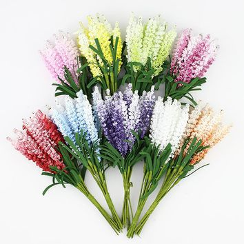 Artificial Lavender flower Bouquet, Multicolor foam flowers for wedding wreath Scrapbook decoration,100pcs/lot