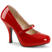 "Pin Up 01 Mary Jane Pump 4.5"" Heel Red Patent PRE-ORDER"