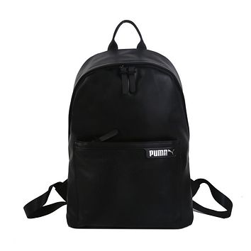 PUMA fashion hot seller women's casual solid color backpack Black